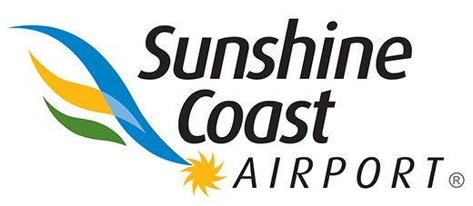 This is the logo of Sunshine Coast Airport